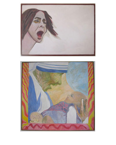 "Top: Figure 1, ""Kent State No More"", 1970; Bottom: Figure 2, ""Mother of Joy"", 1986"